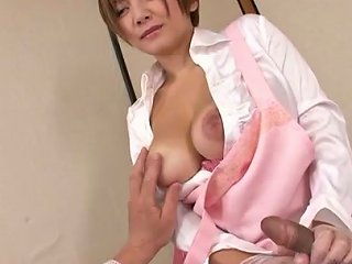 AnySex Video - Busty Asian Massage Therapist Meguru Kosaka Gives Her Patient A Handjob