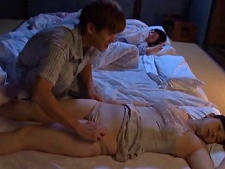 BravoTube Video - Aroused Husband Tempted To Unpin His Sleeping Wife's Panties Before Fingering Her Seductively