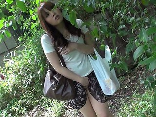 XCafe Video - Beautiful And Curious Redhead Asian Teen Watches Sex On The Street And Masturbates