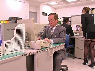 BravoTeens Video - Horny Asian Boss Lady Can't Hold It Anymore In Her Office