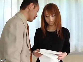 TNAFlix Video - Japanese Wife In Stockings Fucked By Husbands Boss Porn Videos