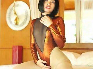 PornHub Video - Asianspandexsluts 18yo Niko In Shiny Leotard And Pantyhose